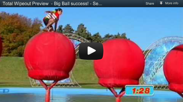 Eliza Flynn Total Wipeout Big Red Balls