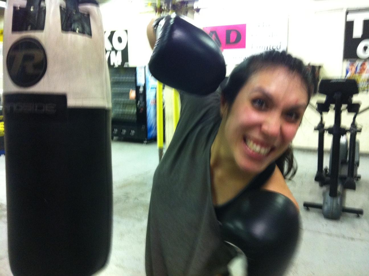 Eliza Flynn boxing with Derek Breakenridge