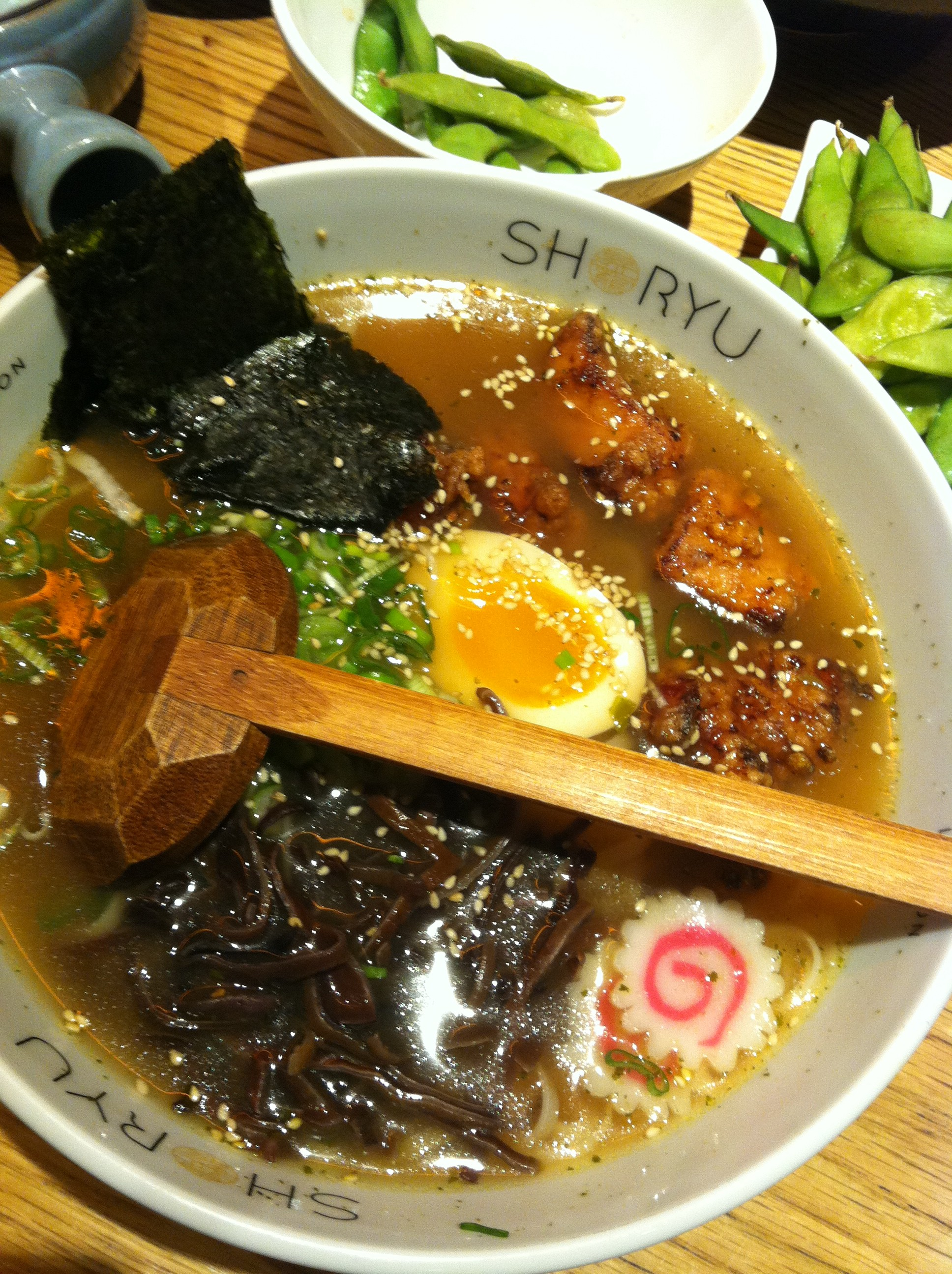 Tori Kara-Age Rice Noodles at Shoryu Ramen, Japanese restaurant, Piccadilly Circus