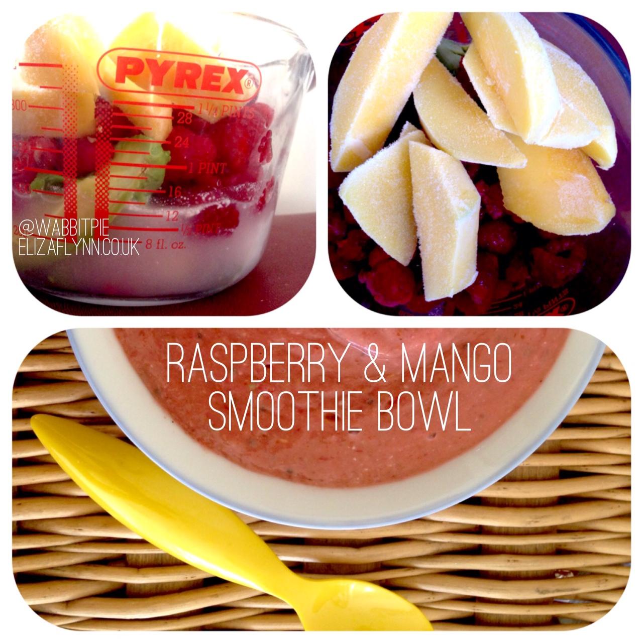 Tropical Raspberry and Mango smoothie bowl recipe