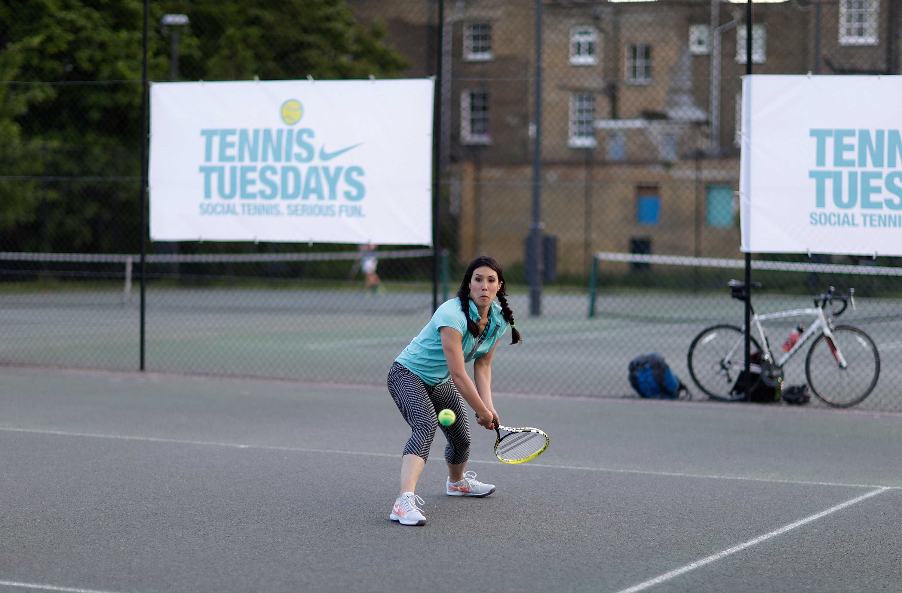 Eliza Flynn with Tennis Tuesdays