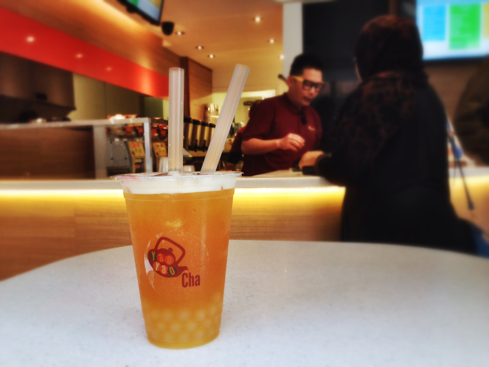 Yao Yao Cha Bubble Tea - passionfruit