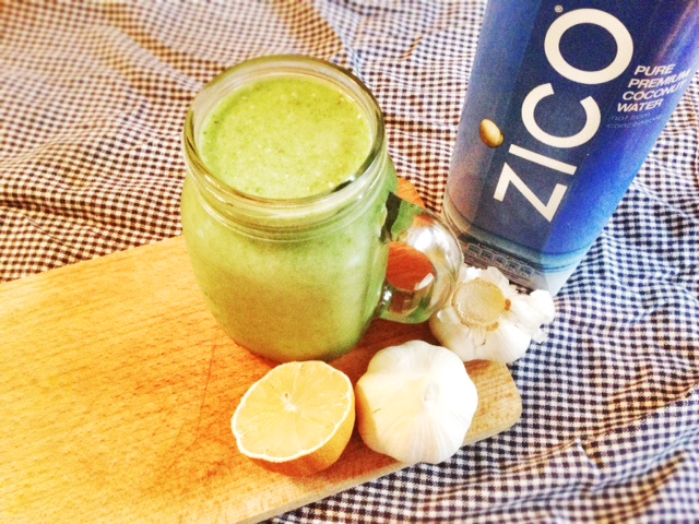 Garlic smoothie with Zico