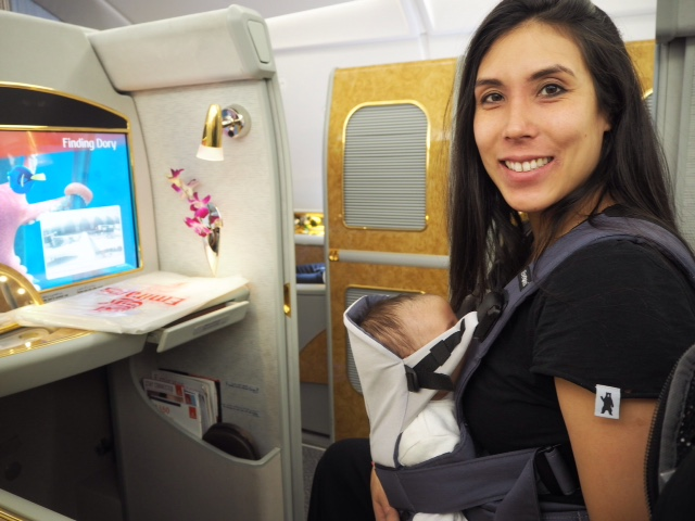 flying longhaul with a newborn