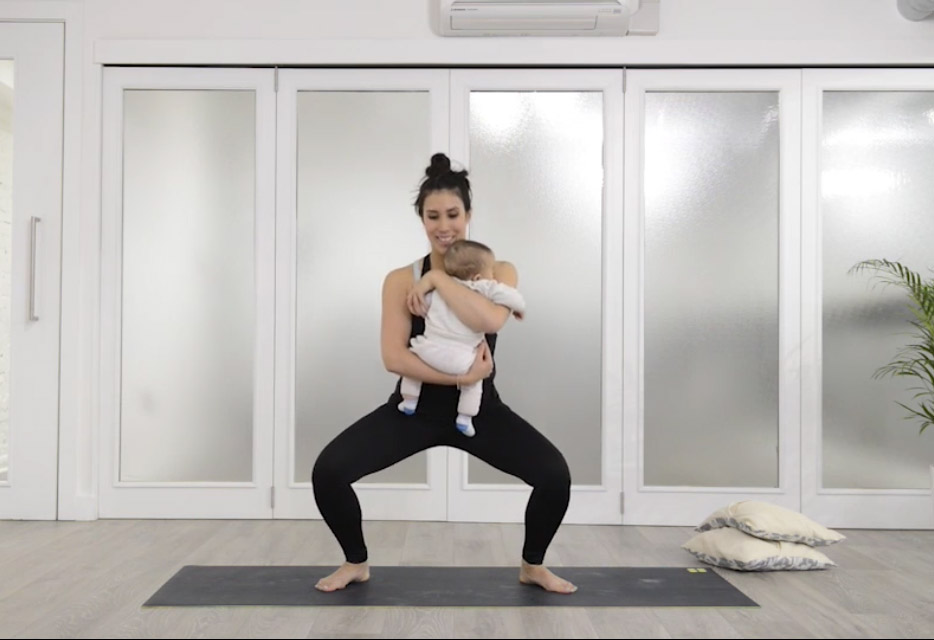 A 5 Minute post-natal workout to strengthen your glutes