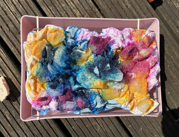 how to ice tie dye